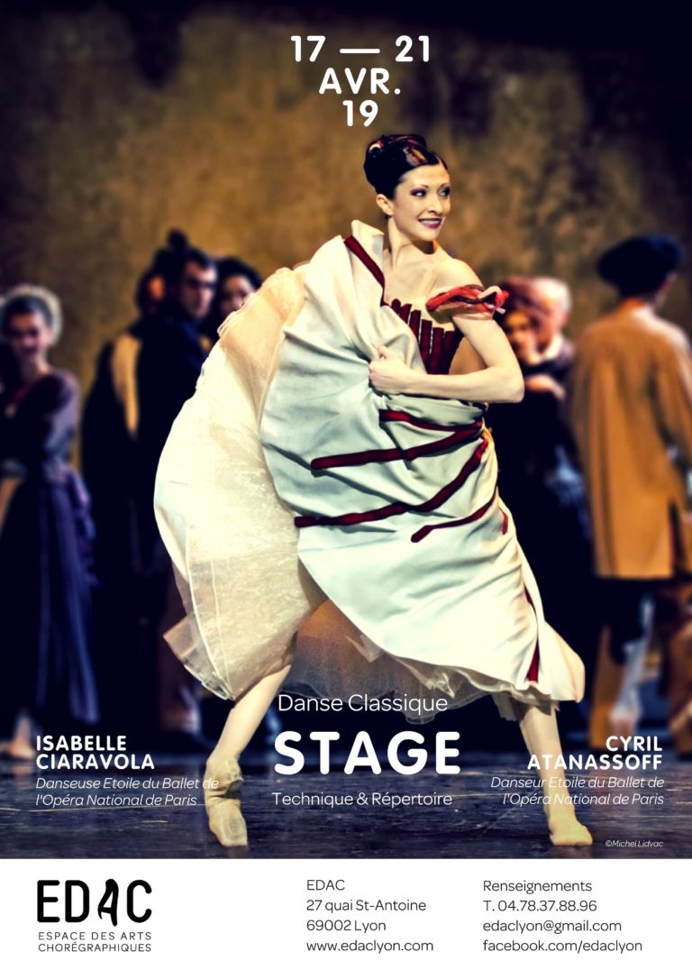 Stage de danse classique Lyon Isabelle Ciaravola Cyril Atanassoff