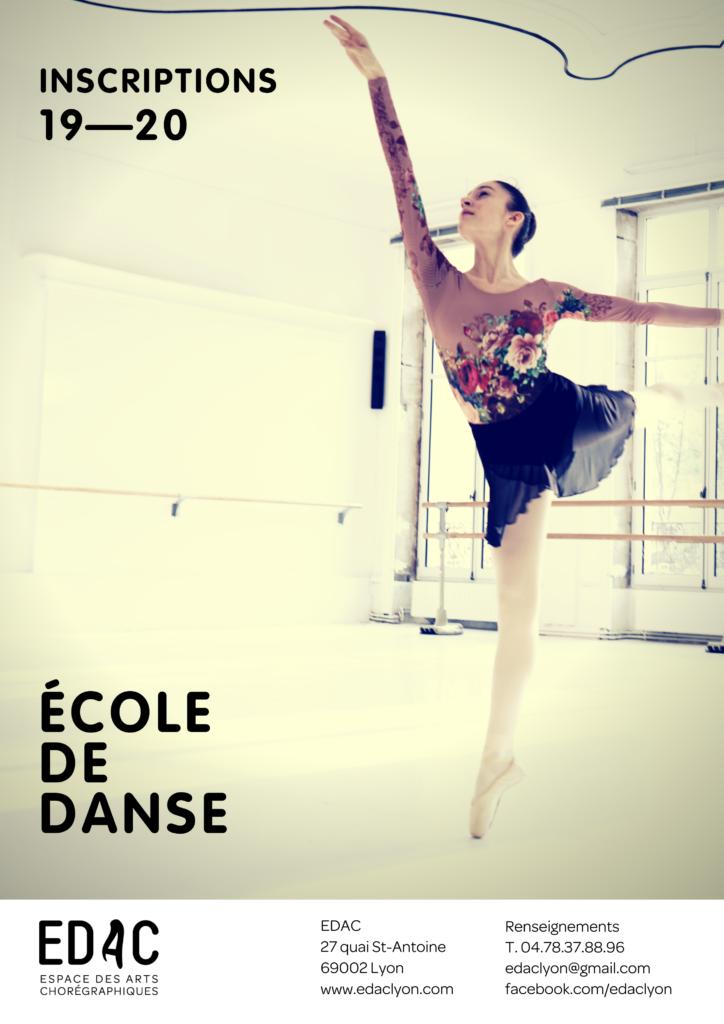 Location studio de danse EDAC Lyon Ecole de danse Lyon inscription cours de danse classique contemporaine