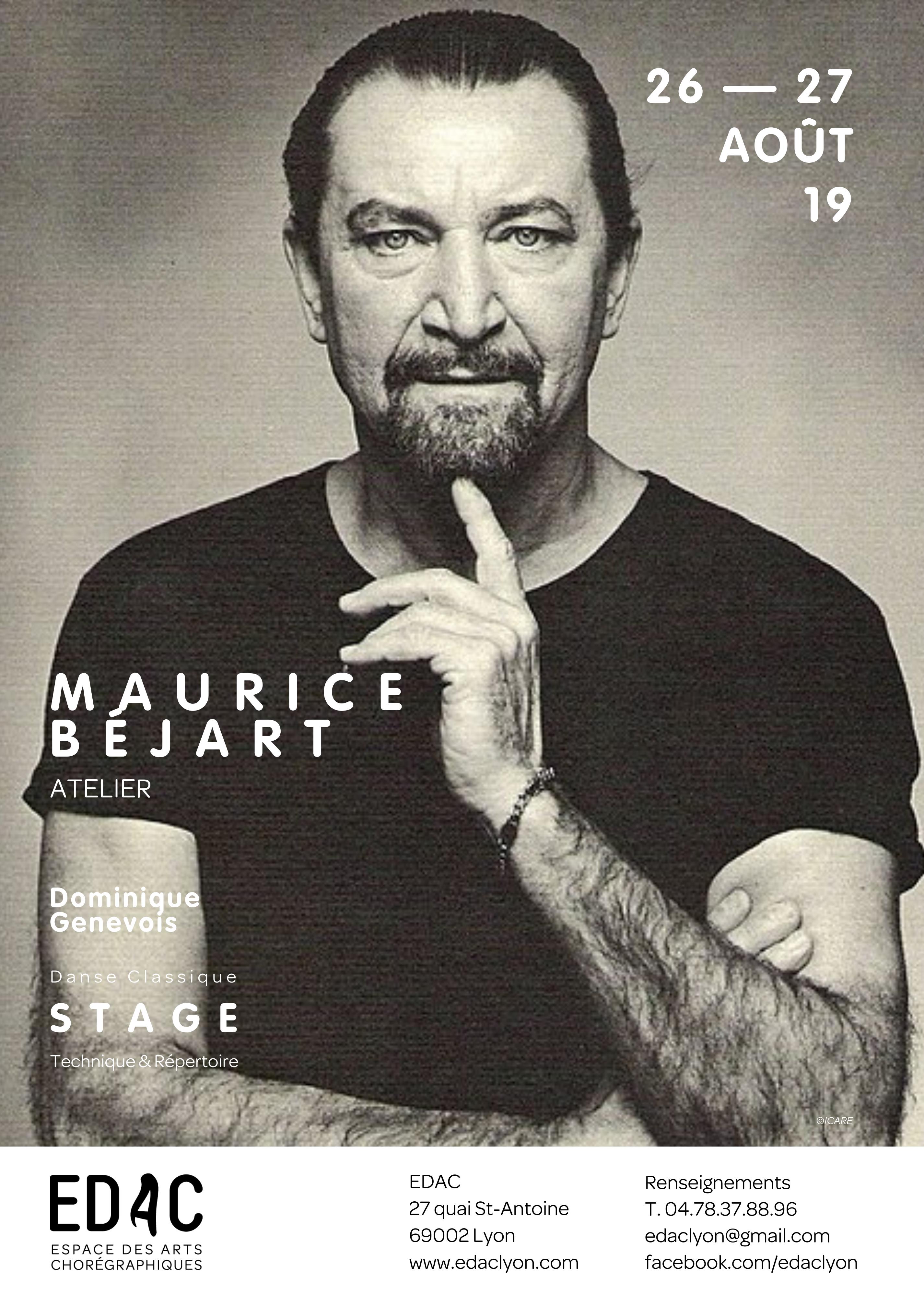 Maurice Béjart, Dominique Genevois, école de danse, stage de danse Lyon, Pavel Trush