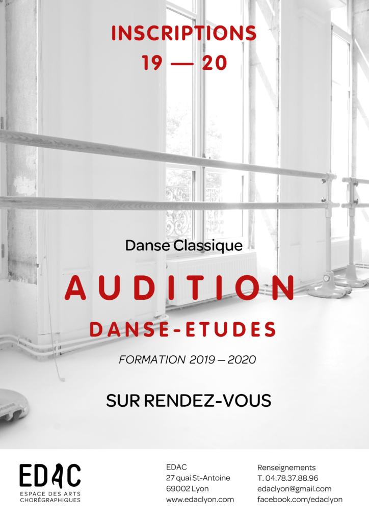 Location studio de danse Danse-Etudes, Formation, Danse classique, Audition, Ecole de danse, Lyon