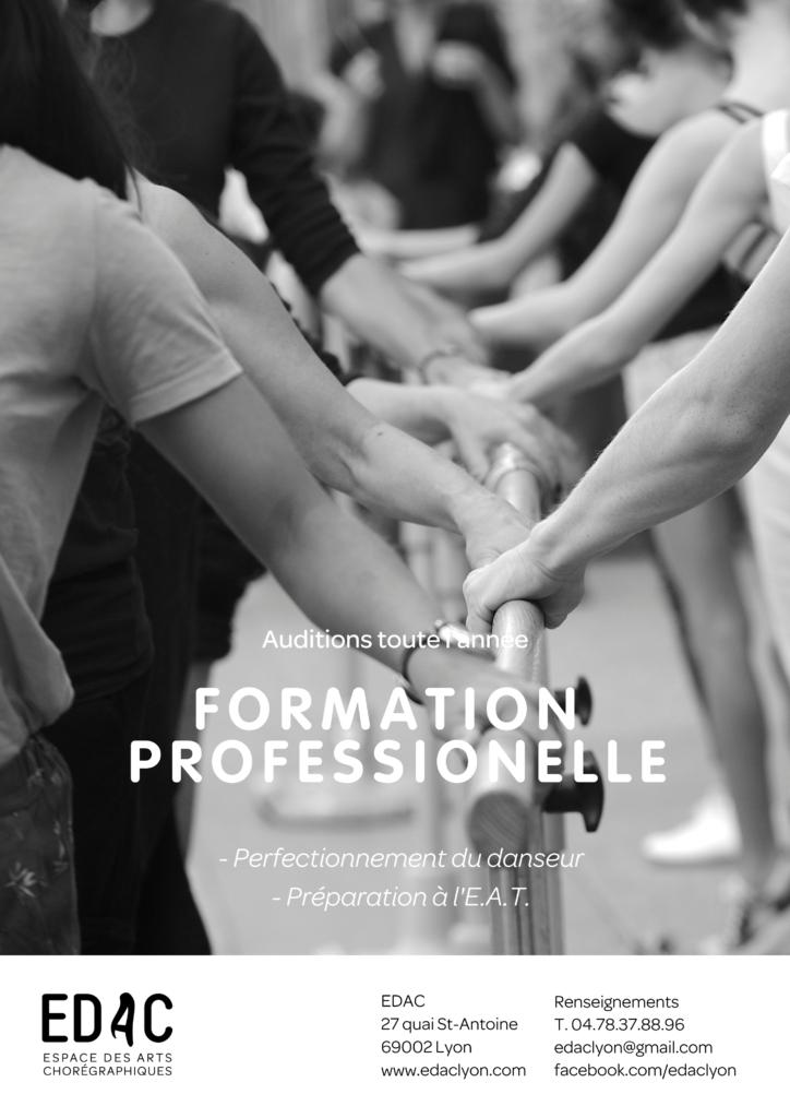 Formation professionelle, Danse classique, E.A.T. Perfectionnement du danseur, Lyon, E.R.D.