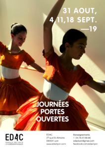 Ecole de danse classique Journées portes ouvertes Lyon EDAC Lyon