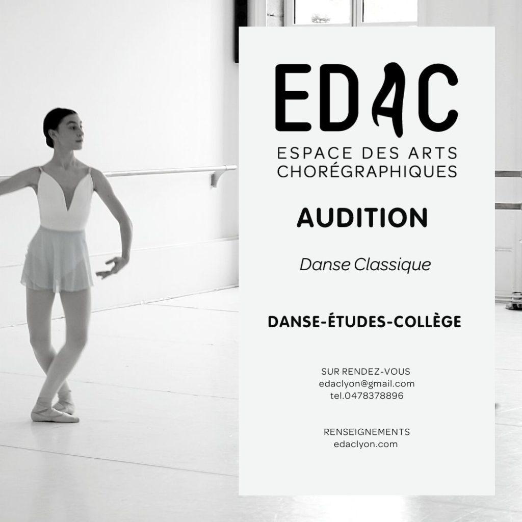 CHAD Danse-Études-collège SLSB danse classique programme danse cours de danse lyon France