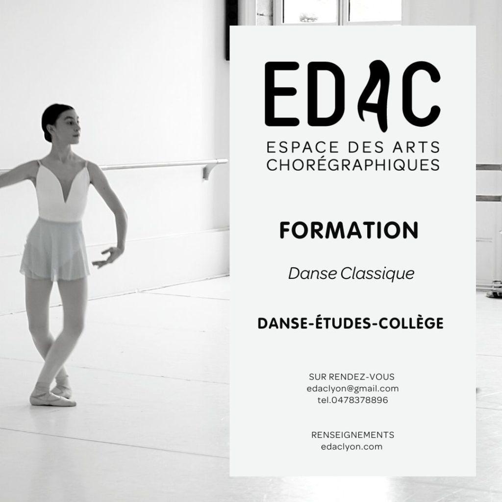 Danse classique ballet Sport-Étude danse-études lyon étudier danser cours de danse à lyon