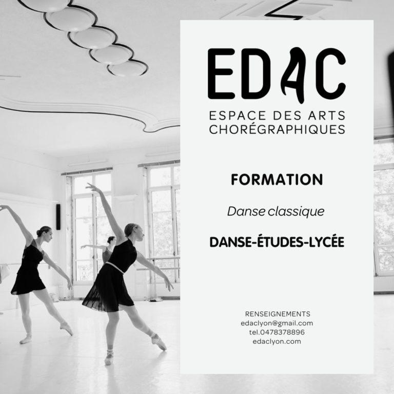 danse études programme danse classique lycée CHAM horaires ménagers lyon internat SLSB