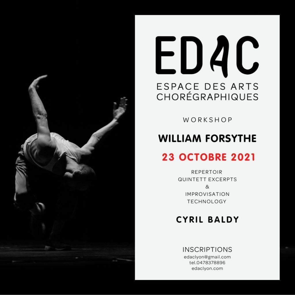 William Forsythe Quintett Opéra de Lyon Ballet Cyril Baldy danse contemporaine école de danse workshop dance